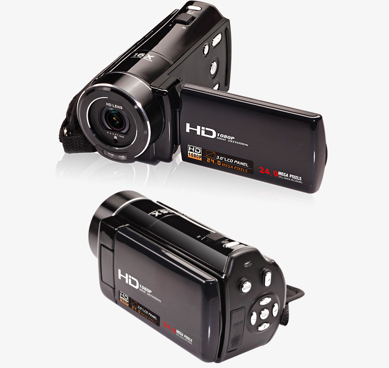 2017 Digital Video Camera Camcorder Full HD 1080P 24MP Mini Camera Professional With 3'' Touch 16X Zoom Wireless Remote Control