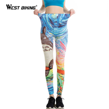 WEST BIKING Summer Women Leggings 3D Printed Flower Eye Legins Gradient Leggins Pencil Pants Legging Tights Women Yoga Pants