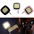 Portátil recargable mini 16 selfie flash led cámara de luz de la lámpara para todos los teléfonos de la venta caliente