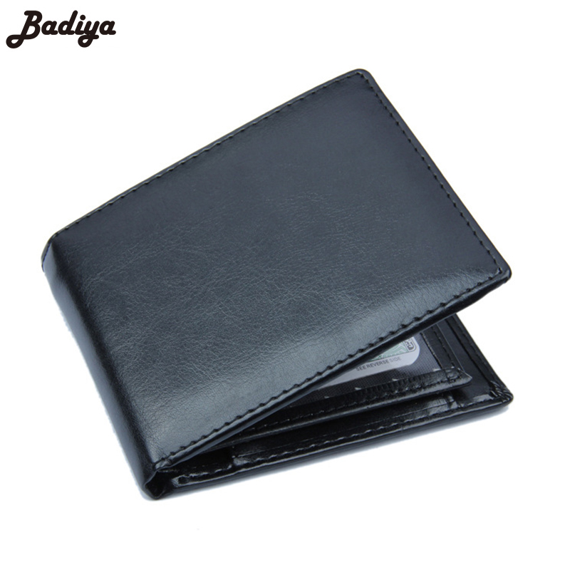 Famous Brand Male Clutch Bag Bifold Card Holder Coin Purses Thin Wallets Fashion Solid Men Wallet Brief PU Leather Short Purse designer men wallets famous brand men long wallet clutch male money purses wrist strap wallet big capacity phone bag card holder