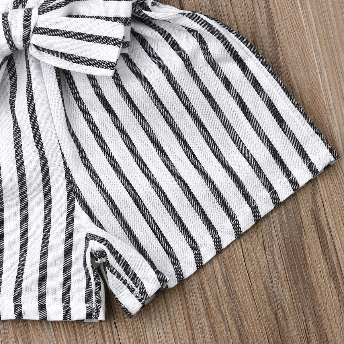 0 24M Newborn Toddler Baby Girl Sleeveless Striped Bowknot V Neck Romper Strappy Casual Cute Summer Sling Clothes Baby Playsuit in Rompers from Mother Kids