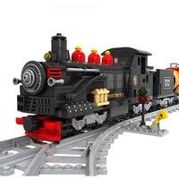 Toys Train building blocks train 462 pcs Train Bricks Blocks children's educational toys