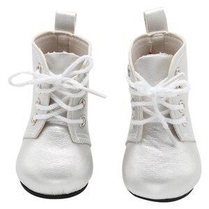 Image 5 - 1ペアのための18インチの人形ミニ人形の靴漫画の人形ブーツ人形sneackersアクセサリーホット販売7センチメートル