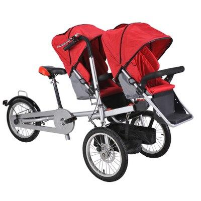 Taga tourisme mère ride tricycle vélo véhicule 2 en 1 parent-enfant cadre en alliage yabby avec 3 vitesses