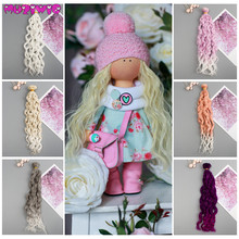 купить 1/12 1/8 1/6 1/4 1/3 Doll Wigs Heat Resistant Wire Curly Hair Extensions for BJD/SD Dolls DIY Doll Hair Doll Accessories онлайн
