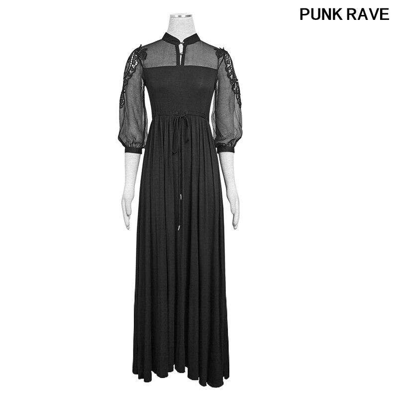 c1aba2ee74a Araignée Rave 151 Black Dentelle Robes Gothique Pq Cocktail De Web Punk  Creux Robe Ourlet Coton Asymétrique ...