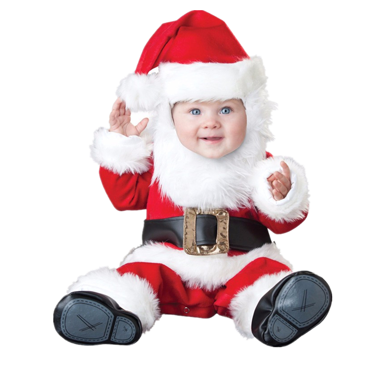 ФОТО Christmas Xmas Halloween Baby Boys Girls Costume Infant Santa Claus Carnival Anime Cosplay Newborn Toddlers Clothing
