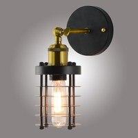 Retro Criativo parede Lâmpadas de Parede De Luz Parede de luz Industrial Do Vintage Home Decor Lâmpada E27/26 wandlamp quarto luz de Parede arandela