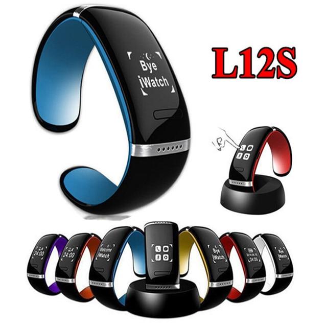 a93a5db5c4f Inteligente Pulseira Relógio de Pulso Pulseira Smartband OLED L12S Bluetooth  Anti Perdido Lembrete Pedômetro Anel para