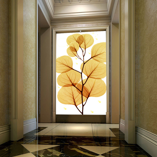 3d wallpaper home decor entrance hallway wall painting for Wallpaper for home entrance