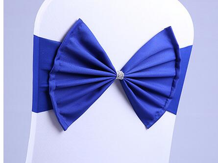 150pcs Wedding Spandex Chair Sash Bands Lycra Stretch Chair BIG Bow Ties For Banquet Decoration Event