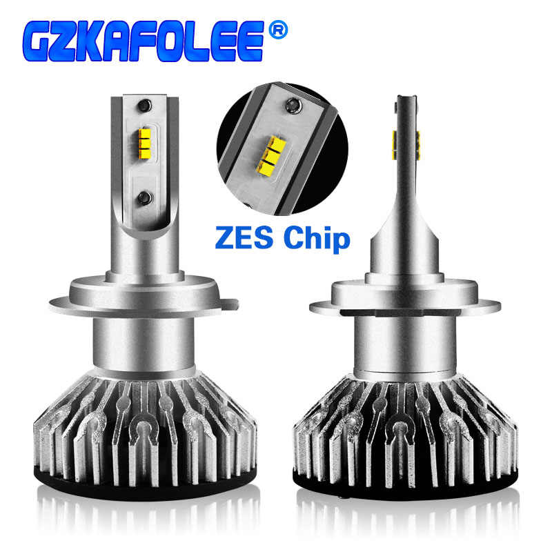 GZ KAFOLEE 2 Pcs Car Headlight Bulbs H7 Led Mini H1 H4 H3 H11 Led H8 H9 9005 9006 6000K 10000lm EMC LUMILEDS ZES
