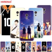 HAMEINUO Haikyuu Hinata attacks Anime Cover phone Case for Meizu M6 M5 M5S M2 M3 M3S MX4 MX5 MX6 PRO 6 5 U10 U20 note plus