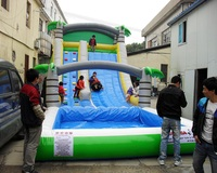 Inflatable slide with water pool Inflatable water slides for children