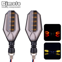BJMOTO 2PCS LED Motorcycle Turn Signal Lights 12V Super Bright Indicator Moto Clignotant Blinker Daytime Running Light Lamp