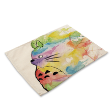 Cartoon Totoro Table Mats Nordic Home Place mat for Dining Table Linen Rectangle Kitchen Decoration Accessories Home