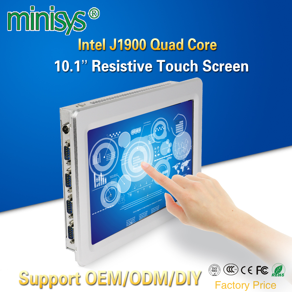 Minisys Computer Wall-Mount Windows-10 Tablet Pc-Intel Touch-Screen J1900 For Dual-Nic