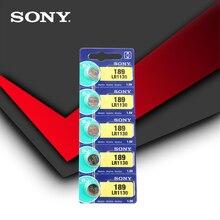 5 шт. sony оригинальнй элемент батареи 1,5 V AG10 LR1130 AG10 389 LR54 SR54 SR1130W 189 LR1130 аккумулятора кнопочного типа сделано в Японии