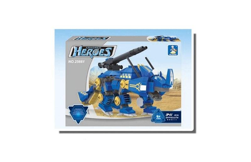 Ausini 341Pcs building blocks Mech robot series 181 3D Construction Brick Educational Hobbies Toys for Kids lepin compatible 010