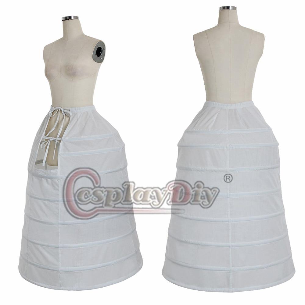Cosplaydiy Medieval Women Crinoline Victorian Ball Gown Underskirt Retro Bustle Dome Cage Skirt Hoop Petticoat L320