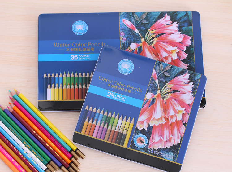 Value Set! Watercolor Pencils Set Stationary Tool Professional Drawing Supplies Art Suppliers kitdix13058unv20630 value kit ticonderoga groove pencils dix13058 and universal perforated edge writing pad unv20630
