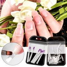 цена Fibernails Fiberglass for Nail Builder Extension Gel Acrylic Tips Nail Form Clips Wraps Poly UV Gel Manicure Nail Art Salon Tool онлайн в 2017 году