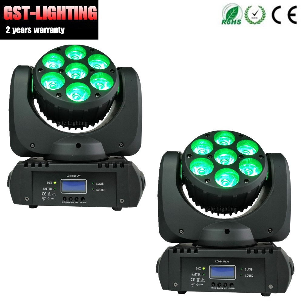 DJ dmx moving head beam stage lighting 7pcs 15W rgbw led light for wedding