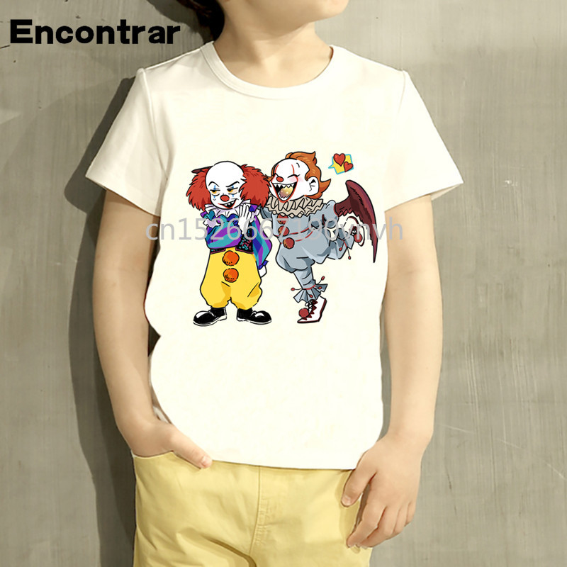 IT Pennywise Balloon Horror Clown Unisex Girls /& Boys T Shirt