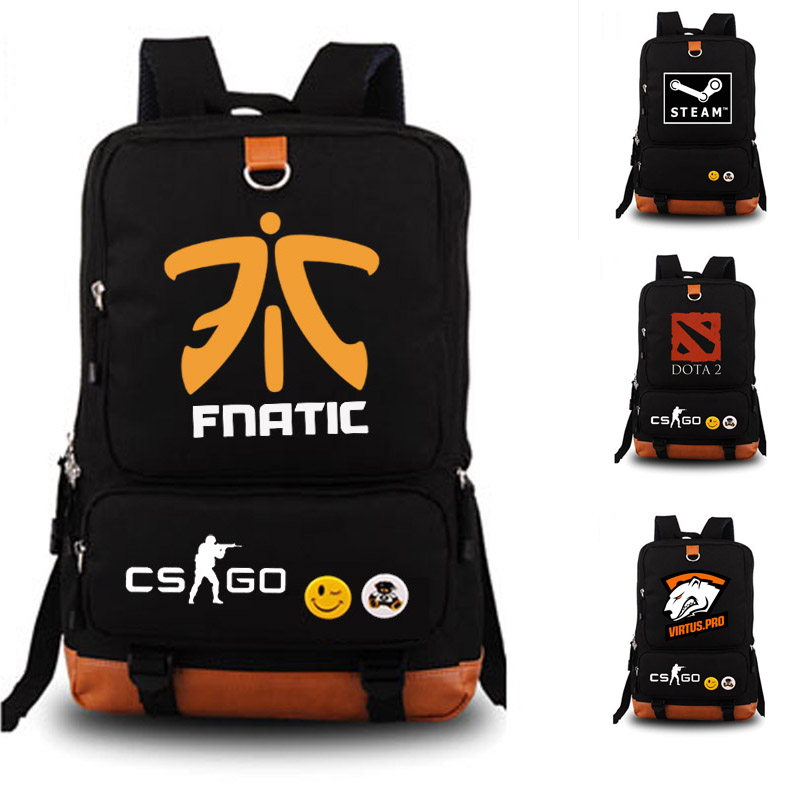 Dead by Daylight STEAM Game school bag Team Fnatic DOTA 2 CS CSGO backpack student school bag Notebook backpack Daily backpack black nylon backpack half life backpacks game fans daily use big backpack school bag for student nb135