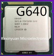 Intel Pentium G640 Dual-Core 3M Cache 2.80GHz LGA 1155 TDP 65W SR059 Processor desktop CPU working 100%