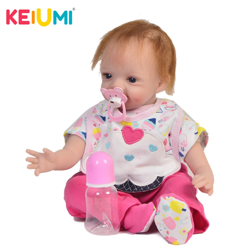 KEIUMI Handmade 22 Inch Newborn Baby Doll Cloth Body Realistic Lovely Baby Doll Toy For Children's Day Kid Birthday Xmas Gifts keiumi real 22 inch newborn baby doll cloth body realistic lovely baby doll toy for children s day kid christmas xmas gifts