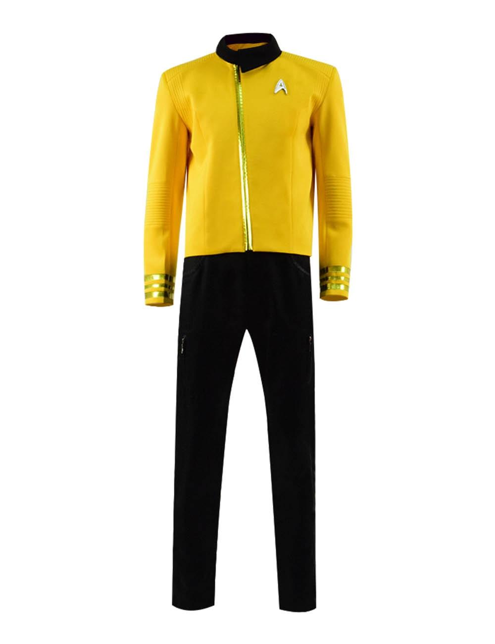 Star Trek Yellow Uniform Full Set Cosplay Costume Party Show Men Cosplay