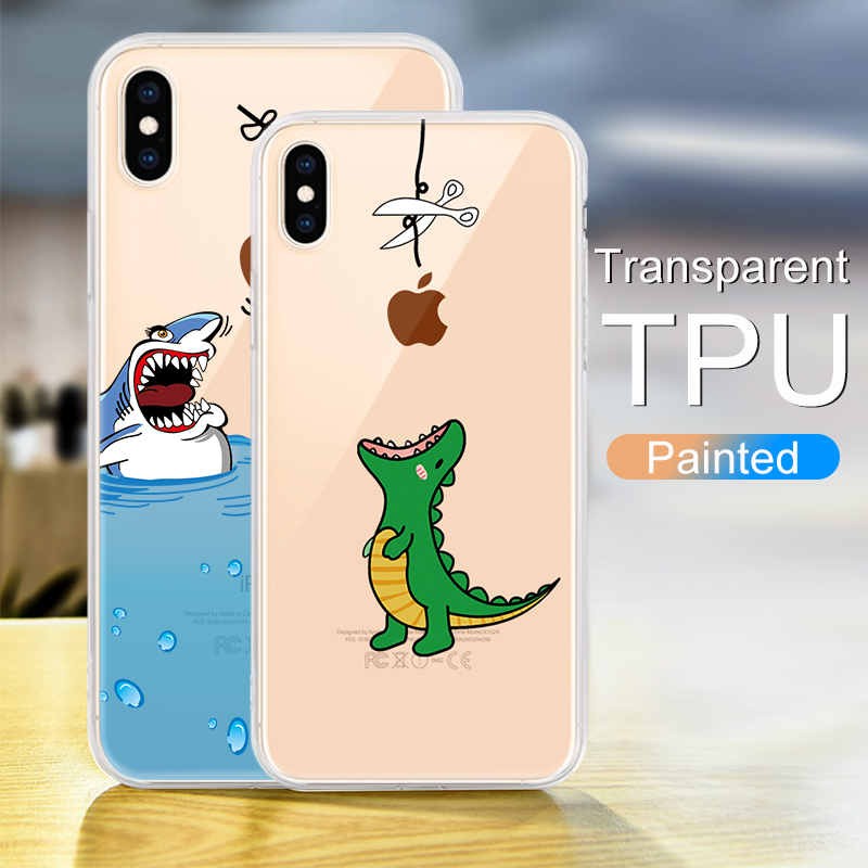Soft Silicone TPU Cool Pattern Phone Shell For iPhone Models