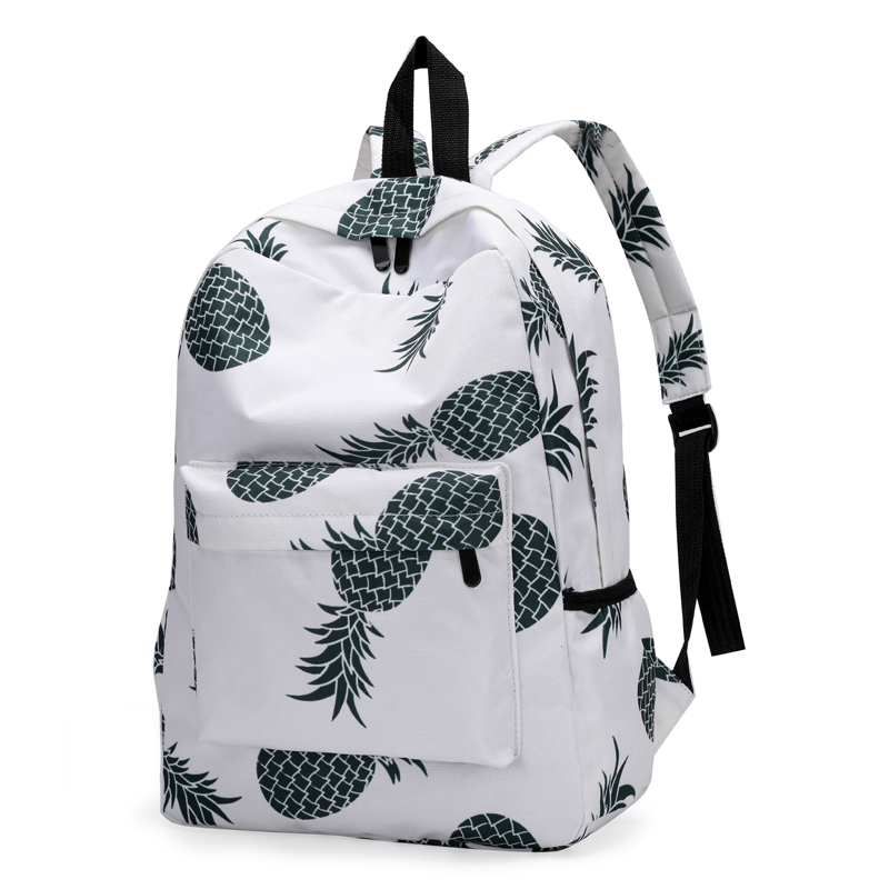 Pineapple Print Backpacks Students School Bags For Teenager Girls Book bags  Laptop Travel Bags Women Kids Casual Rucksack XA21ZC-in Backpacks from  Luggage ... 07eed8ffe3