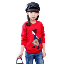 цена на Children Sweaters 2018 New Autumn Winter Girls Long Sleeve Knitted Clothes Kids Pullover Tops Girls Sweater 4 6 8 10 12 13 Years