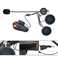 Waterproof BT S2 Multi BT Interphone 1000M Motorcycle Bluetooth Helmet Intercom Moto Interfones Headset FM MP3