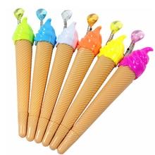 36 шт./лот прекрасный мороженое гелевая ручка с разноцветная подвеска с 0,5 мм черный ручки модная промоакция, оптовая продажа