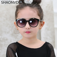 SHAONVDIE Hot Brand Designer Children Glasses Cateye UV400 High Quality Kids Sunglasses lunette de soleil enfant Retro Glasses