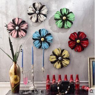 Ручная роспись стены тарелок декор Классический дизайн ТВ фон цветок тарелок декор