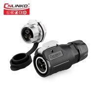 Cnlinko 3Pin IP67 موصل كابل مقاوم للماء مع UL ، CE ، IS9001 وافق M16 10A DC الطاقة الإناث وصلة مرفاع ل سيارة الصوت LED Light Strip Connectors Drop Shipping/ Wholesale-في موصلات من مصابيح وإضاءات على
