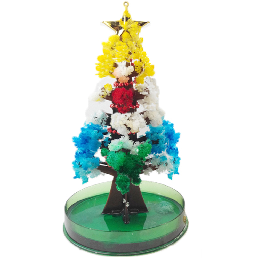 2019 10x6cm Visual Multicolor Mystic Grow Christmas Trees Toy Magic Growing Paper Tree Kids Princess Funny Baby Toys Novelties