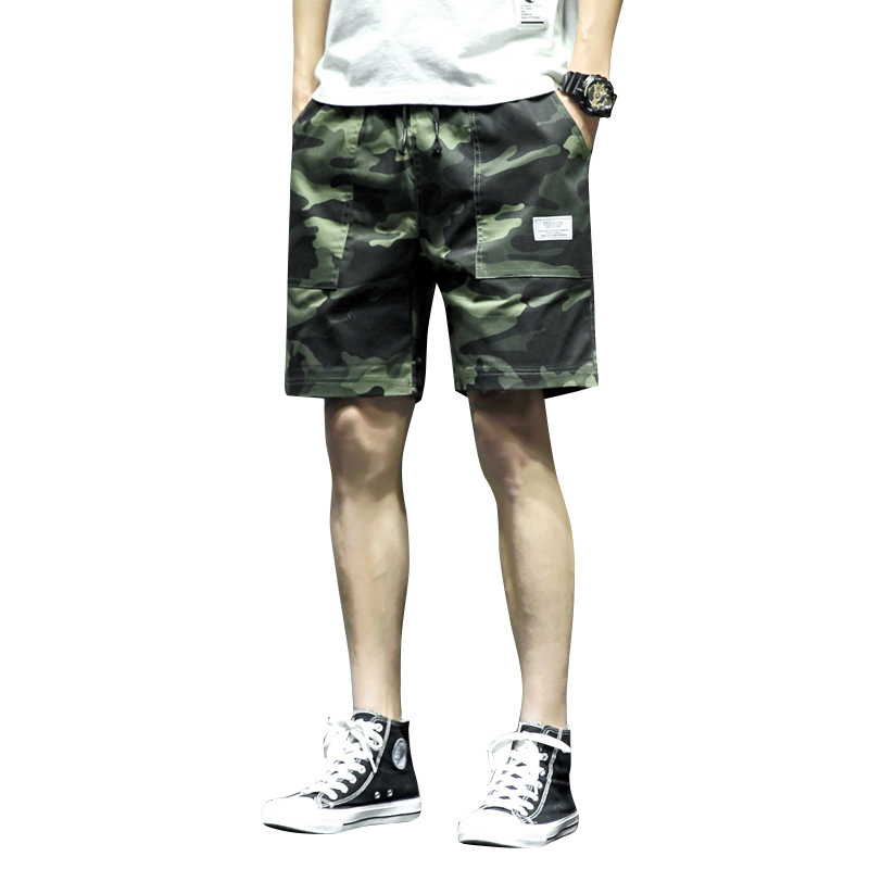 VOGUELEO  Men's Cool Camouflage Summer Hot Sale Cotton Casual Boy Short Pants  Joggers  Comfortable  Men Shorts