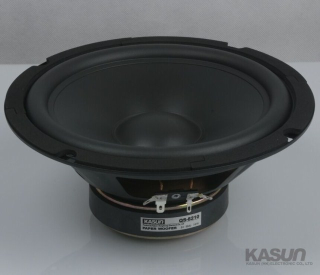 2PCS KASUN QS-8210 8'' Paper Woofer Speaker Unit 8ohm/140W Max Diameter 210mm Fs 39Hz-5300Hz 2pcs kasun qa 8100 8inch woofer speaker driver unit paper cone 8ohm 140w dia 218mm fs 45hz