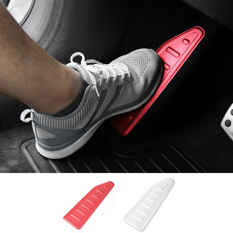 MOPAI Aluminium Left Foot Pedal Rest Plate Decoration Interior Stickers Accessories for Jeep Renegade 2015-2016 Car Styling