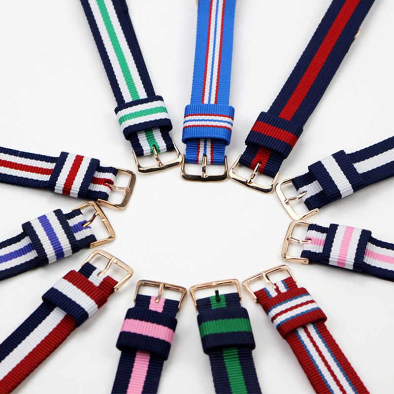 Correa de reloj de lujo de 14mm, 18mm, 20mm, correa de nailon para reloj, correa de reemplazo para correa de la OTAN James Bond 007 D & W, correas de relojes deportivos militares del Ejército