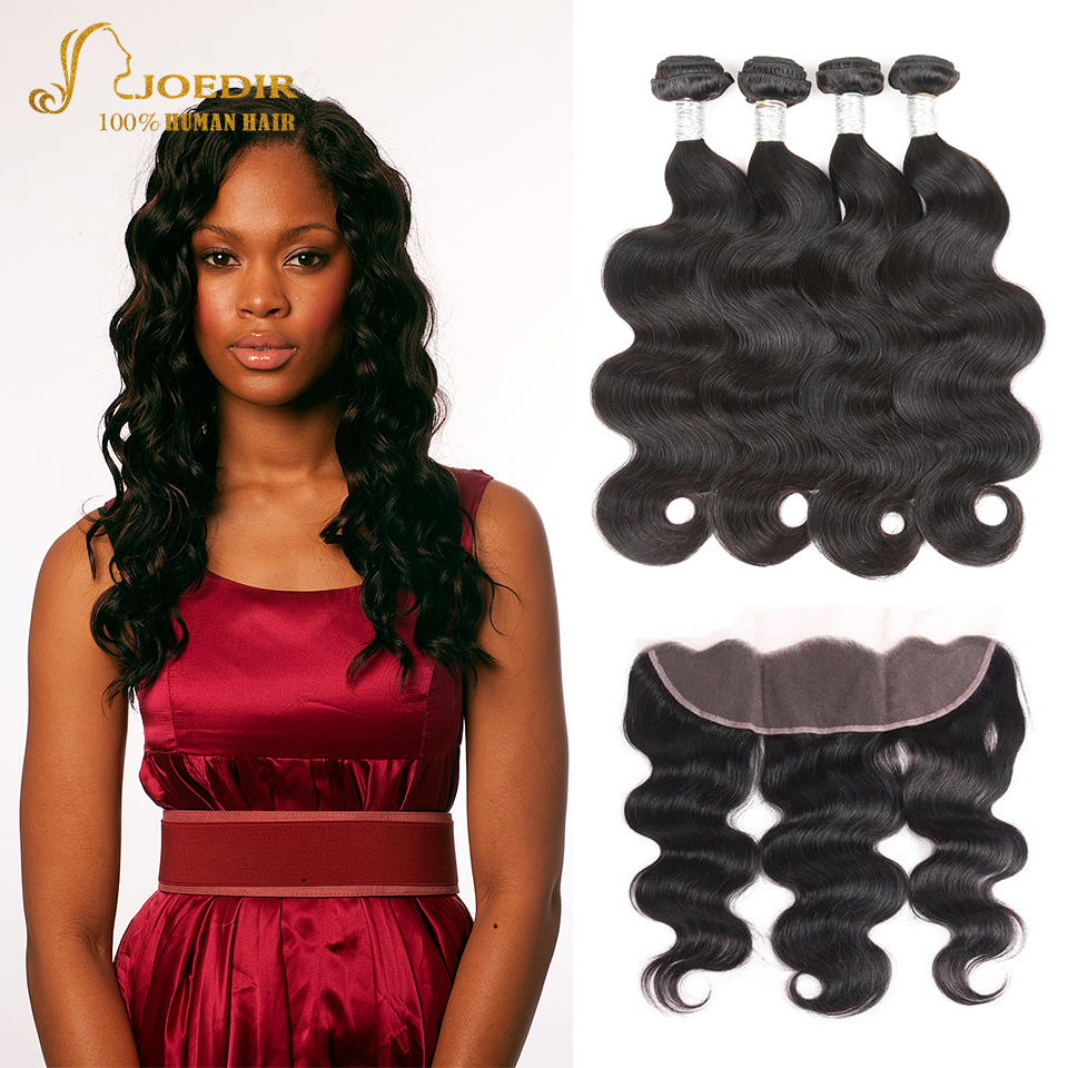 Malaysian Body Wave Hair Bundles With Lace Frontal Closure Human Hair 3 Bundles With Lace Frontal Closure Pre Plucked Closure
