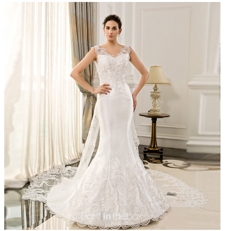 free shipping appliques beading casamento vestido de noiva 2018 sexy romantic mermaid bridal gown mother of the bride dresses
