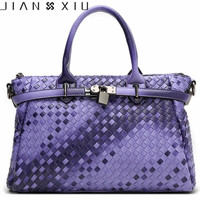 Lock Women Leather Handbag Famous Luxury Handbags Women Bags Designer Fashion Ladies Handbag Shoulder Knitting Bag Woven Bags