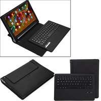 Tablet Case Business Portable Bluetooth Keyboard with PU Leather Case Cover For Lenovo Yoga Tab 3 Pro 10.1 QJY99