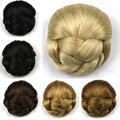 Retail  Womens Ladies Trendy Clip-on Synthetic Hairpiece Dish Hair Bun Contract Tail Wig 6 colors available